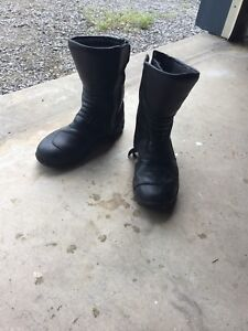 Women's motorcycle boots.