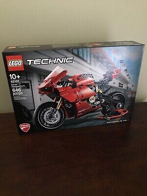LEGO Technic 42107 Ducati Panigale V4 R Building Kit 646 Pcs Rare In Hand