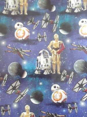 X/LARGE 1M SHEET STARS WARS GIFT WRAPPING PAPER- BIRTHDAY-FATHER'S DAY
