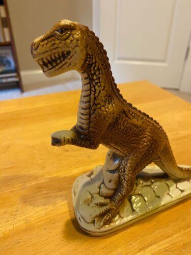 Vintage Ceramic Dinosaur Figure – T Rex – Made In Brazil – Rare 385039