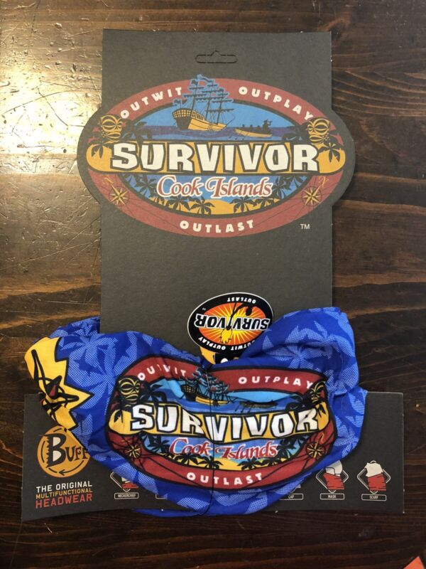 Survivor: Cook Islands blue Rarotonga buff - New w/card and tags