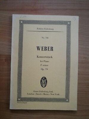 Noten. Weber. Konzertstück für Klavier und Orchester f-Moll op. Studienpartitur.