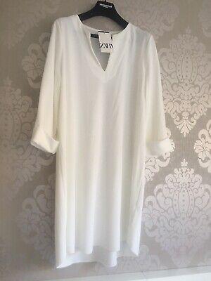 Vestido de mujer blanco Marca Zara Talla L Nuevo
