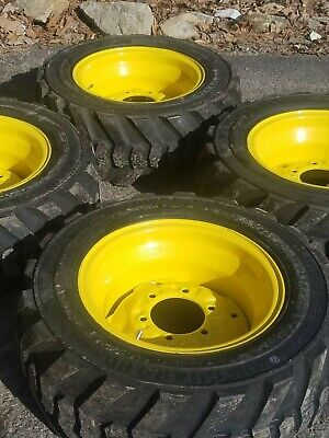 27x10.50-15 Skid Steer Tireswheels - 27x10.5-15 - For Bobcat More - 8ply