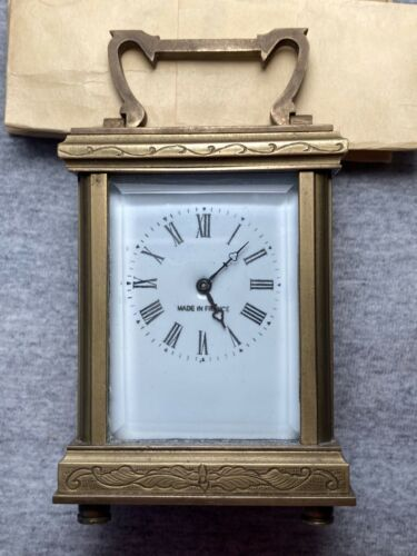 FRENCH MINIATURE CARRIAGE CLOCK SUPERB CONDITION