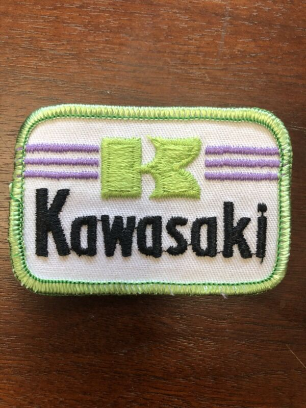 """New kawasaki patch 3""""x2"""" Sew Or Iron On New Old Stock Over 20 Years Old"""