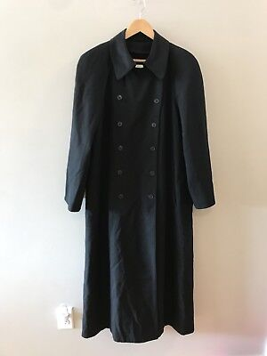 Jones New York Black Wool Double Breasted Trench Coat Jacket Made In USA Wmn 10 Jones New York Double Breasted Coat