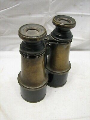 Pr Early Army & Navy Signal Service Military Binoculars Verne Paris