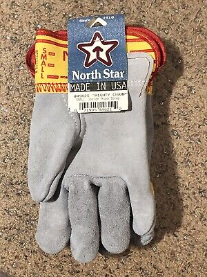 North Star 4962 Mighty Champ Leather Work Gloves Small Pair New