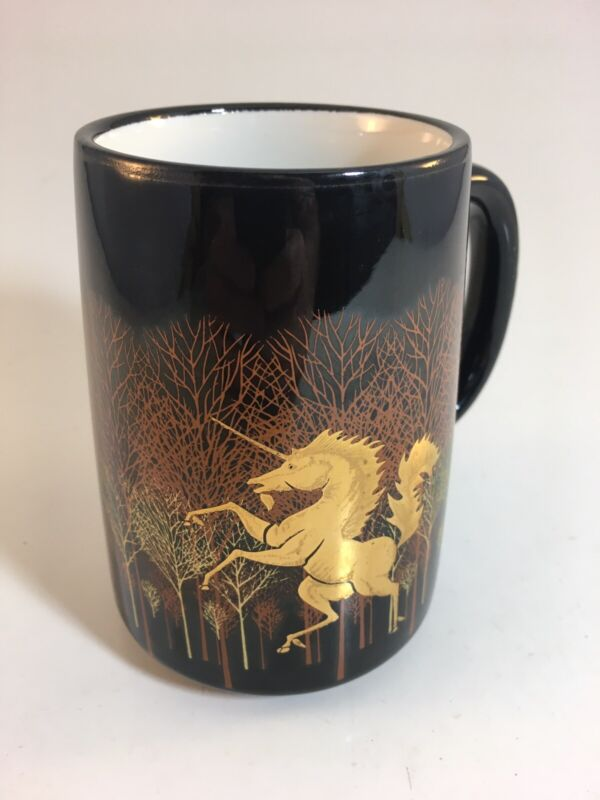 Golden Unicorn VINTAGE Otagiri Coffee Tea Mug Cup Japan Japanese
