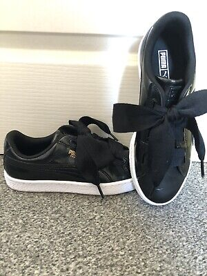 PUMA Basket Trainers Black Size 5.5 Women's WORN ONCE