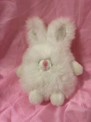 Rare RUSS POOFIE Snowball Sparkly BUNNY RABBIT Plush Stuffed Animal - Stuffed Snowballs
