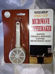 MICROWAVE COFFEE MAKER TOP'S RAPID PERMA BREW ONE CUP COFFEE MAKER