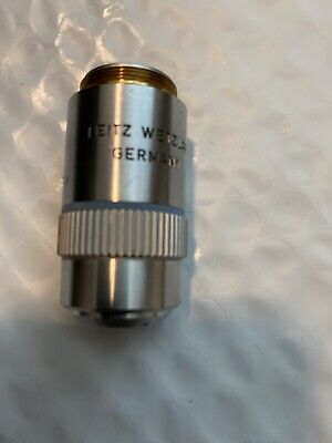 Microscope Objective Leitz Wetzlar Germany Pl 80x Optics