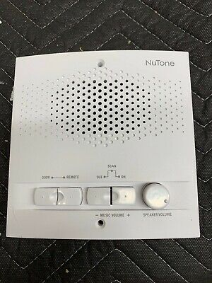Nutone NPS103WH Outdoor Remote Station RetroFit For 3Wire Intercom System White  Nutone Outdoor-remote-station