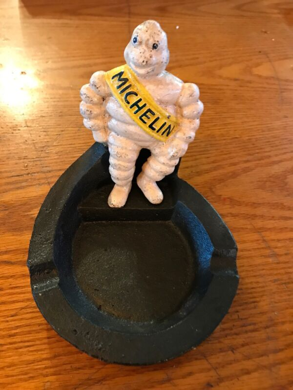 Michelin Man Vintage Cast Iron Ashtray