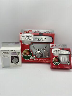 Yankee Candle CHARMING SCENTS Starter Kit MACINTOSH Car Charm Air Freshener