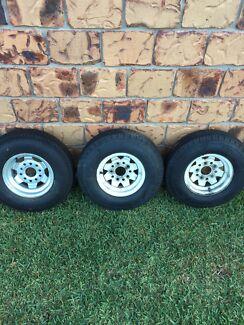 3 x 10 inch boat trailer wheels