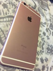 iPhone 6s Plus 64GB Unlocked + Leather Apple Case *rose gold*