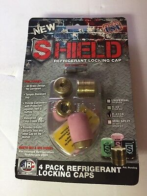 Shield R-410a 4 Pack Locking Cap - Pink - Jb Industries Hvac - Part Shld-p4