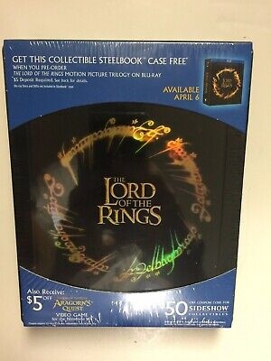 The Lord of the Rings: The Motion Picture Trilogy Best Buy Steelbook Empty (Best Sci Fi Trilogies)