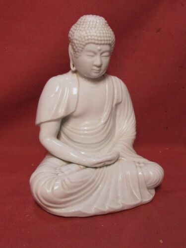 Large Antique Japanese Blanc de Chine Porcelain Buddha