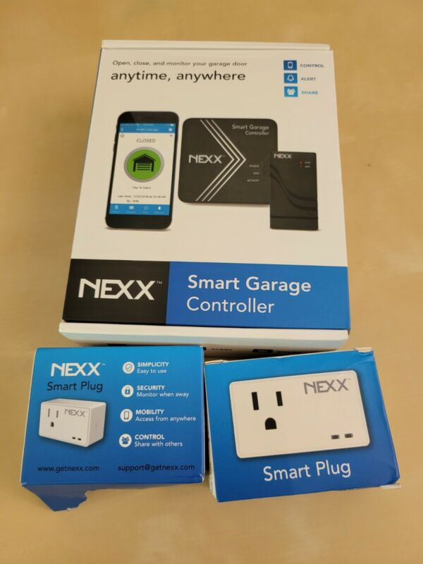 NEXX Garage NXG-200 Wi-Fi Garage Door Remote Controller + 2 smart plugs bundle