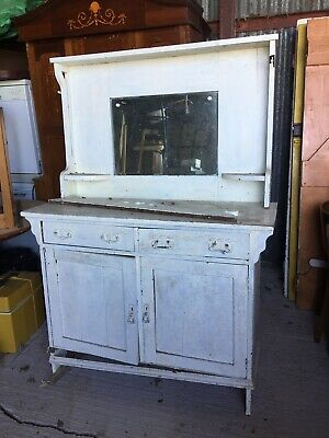 Old Painted Antique Sideboard Chiffonier For Restoration Art Nouveau 20/4/E/LB