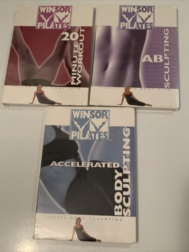 Mari Winsor Pilates 3 DVD Set Sealed AB Body Sculpting 20 Minute Workout - $13.74