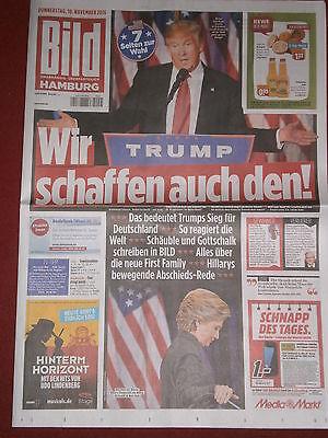 BILD Zeitung DONALD TRUMP President 10.Nov.2016 NEU NEW!! Präsident USA