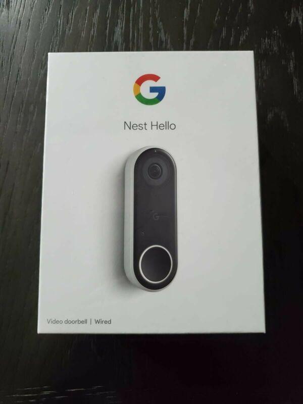 Google Nest Hello Smart Wi-Fi Video Doorbell