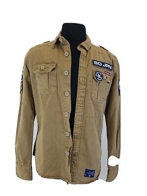 MEN'S  SUPERDRY  ROOKIE  MILITARY FIELD JACKET  KHAKI LARGE