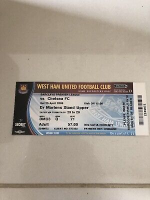 Ticket West Ham Chelsea 2009 ( Premier League)
