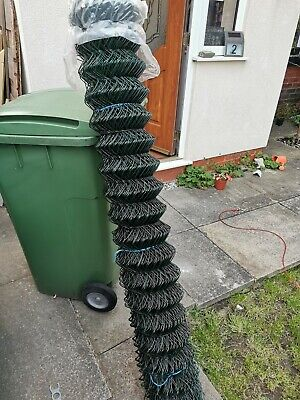 Chain link fencing Green plastic coated steel. 50mmx50mm 1.5 x 20mtr (b9)