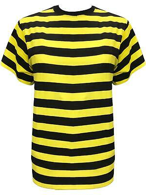 Printed V-neck Tee (Men's Classic Bumble Bee Stripes Printed V Neck Top T-Shirt Tee Top Fancy Dress)