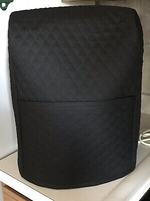 5 qt - Black Quilted mixer cover that fits the kitchen aid mixer