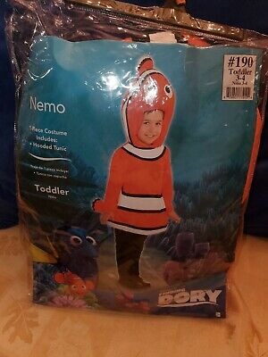 finding nemo costume Nemo toddler size 3-4 Ship fast brand new halloween m
