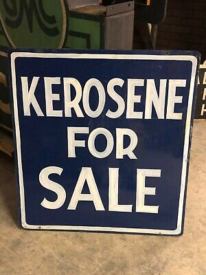 Large Vintage HAND Painted KEROSENE FOR SALE Sign OLD Gas Oil Mancave WILL SHIP!