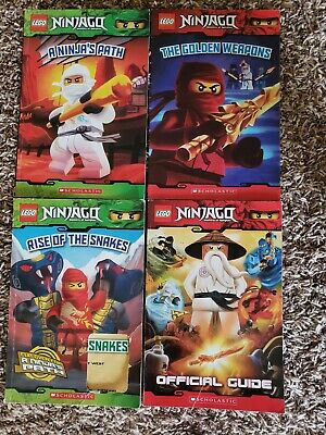 Lot of 4 Lego Ninjago Masters of Spinjitzu Beginner Readers (Scholastic)