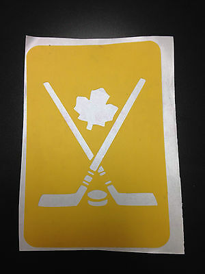 Canadian Maple Leaf Hockey Sticks & Puck stencil for Airbrush Tattoo craft Art - Hockey Stick Tattoo
