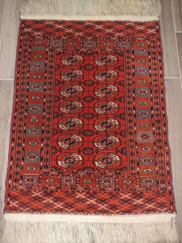 2x4ft. Vintage Bokharra Wool Rug