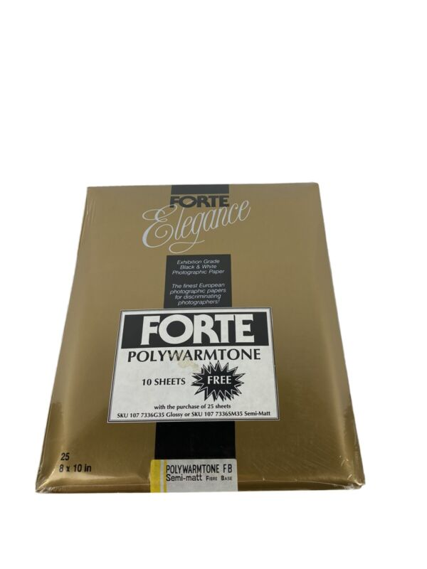 Forte VAC Hungary Polywarmtone FB Semi Matt Fibre Base Photographic Paper 25 +10