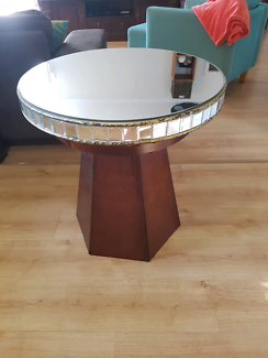 Unique round mirror table