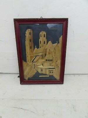 Vintage Framed Collage Type Picture Depicting Katedra Wroclaw, Polish Cathedral