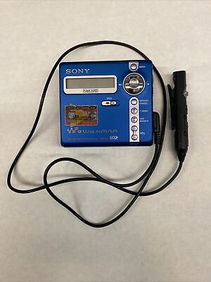 Blue Sony Walkman MZ-N707 Type R Portable Minidisc Player & Recorder & Remote