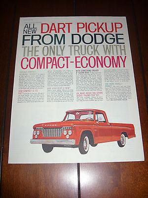 1961 DODGE TRUCK PICKUP  Original Vintage Ad