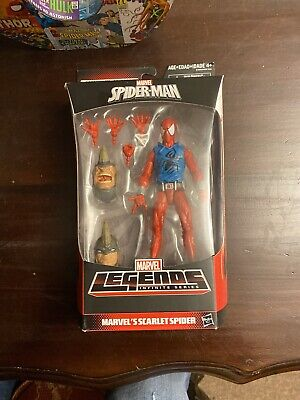 "Marvel Legends SCARLET SPIDER Spider-Man Rhino BAF Series Hasbro 6"" figure New!"