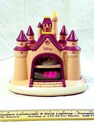 Disney Princess Castle Story Telling Alarm Clock Radio Pink Kids