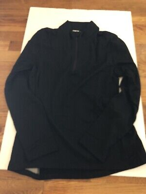 Olivers Apparel Porter Half Zip Jacket Black Merino Wool Men's Size Small