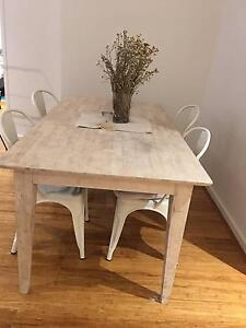 6 Seater table + Four Chairs Lane Cove North Lane Cove Area Preview